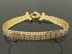 Vintage Italian 14K Solid Yellow Gold Black by wandajewelry2013