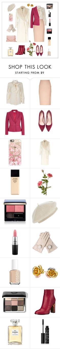"""Office look"" by rara-nataliya ❤ liked on Polyvore featuring Frame Denim, MaxMara, CC, Zara, Casetify, Polo Ralph Lauren, Shiseido, OKA, Clé de Peau Beauté and Harrods"