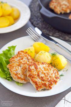 przepis-na-kotlety-z-kurczaka-siekane Polish Recipes, Polish Food, Flat Belly, Kids Meals, Chicken Recipes, Food And Drink, Eggs, Tasty, Cooking