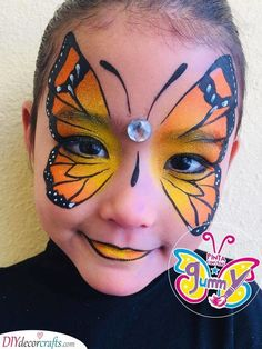 A majestic butterfly face painting for parties adorable dog face painting for kids Visage Halloween, Maquillage Halloween, Halloween Makeup, Halloween Painting, Halloween Face Paintings, Halloween Facepaint Kids, Kids Halloween Face Paint, Facepaint Ideas, Zombie Makeup
