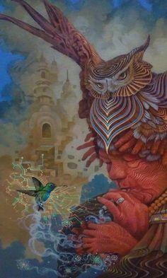 Sacred Ayahuasca Art By Luis Tamani