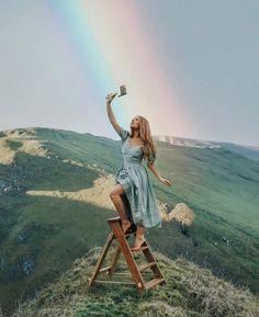 Georgia rose hardy rainbow portrait surreal surrealism painting double exposure