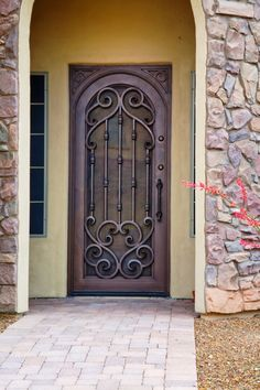 Verona Inside Arch Style Door - First Impression Ironworks Security Door, Front Door, Beautiful Doors, Iron Front Door, Grill Door Design, Gate Design, Iron Entry Doors, Steel Doors, Doors