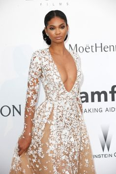 Chanel Iman at Cannes amfAR Gala 2015