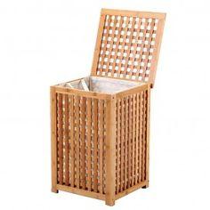 Cesto para ropa de bambú (40x40x58)