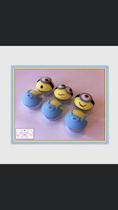 Minions  by Kays Cakes Minion Cupcakes, Cakes And More, Easter Eggs, Cake Decorating