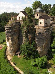 The Sloup Castle in Czech Republic.
