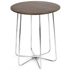 Tuleo Side Table Walnut Chrome