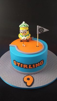 Golfing Minion Cake.by Taste_Cake_Design