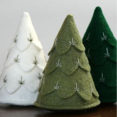 .Remember the cute felt trees we made in Vallejo?  This is a nice version.
