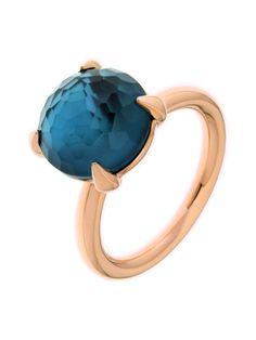 Bron ring Topaas London Blue | Online winkelen