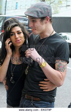 19.APRIL.2010. LONDON AMY WINEHOUSE AND EX-HUSBAND BLAKE FIELDER CIVIL SPEND…