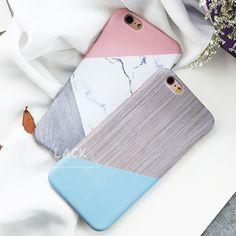 Marmer Capa Coque Slim Hard Plastic Telefoon Gevallen Cover Voor iPhone 6 Case Voor iphone 6 S 6 Plus Geometrische Splice Steen Patroon Capa