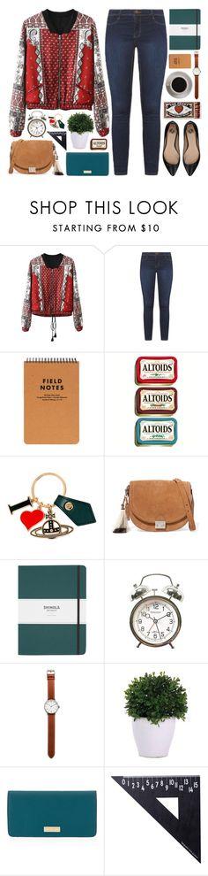 """Vintage Jacket"" by lover-of-pie ❤ liked on Polyvore featuring Vivienne Westwood, Loeffler Randall, Shinola, Tsovet, Bunn, Lux-Art Silks, Henri Bendel, Design Letters, Elisabetta Franchi and vintage"