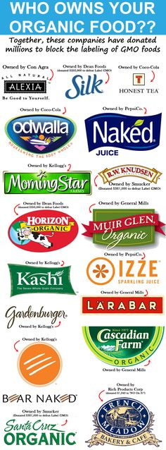 "Gmo Free Gardening Front and center: The ""organic"" brands you trust that are trying to block GMO labeling (because theyre owned by Big Business) Dean Foods, Clean Eating, Gm Diet, Toxic Foods, Organic Brand, Salud Natural, Organic Living, Natural Living, Salads"