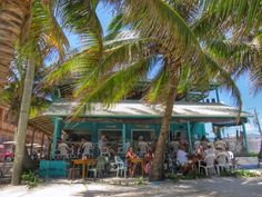 "Everyone's favorite ""diner on the beach"" - Estel's in San Pedro, Belize.  If you don't eat the fry jacks, you crazy!"