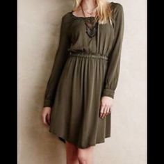 "Dark Green """"Holding Horses"""" Dress"