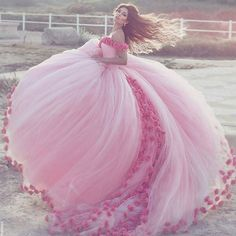 Pink Gown Magic shot by Said Mhamad