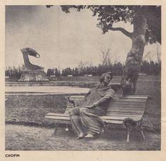 """Breathing space. Chopin"" - photomontage by Levitt-Him from ""Wiadomości Literackie"" (12.04.1936). #Chopin"