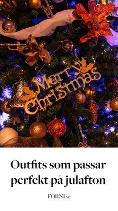 Bara för att julen inte ser ut som vanligt i år betyder det inte att vi inte ska klä upp oss. FORNIs mode-proffs Linda tipsar om fyra outfits som passar perfekt på julafton!