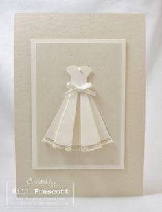 Do the dress in pink for a princess card for young girls! :)