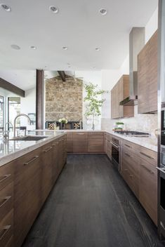 Open-Concept Kitchen Designs Open-concept is the hottest home trend right now, and after you see these 20 open-concept kitchen designs, you will understand why! Home Decor Kitchen, Kitchen Furniture, New Kitchen, Kitchen Ideas, Kitchen Wood, Island Kitchen, Minimal Kitchen, Kitchen Country, Kitchen Modern