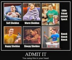 Oh yes .....I am guilty....sang it as I read it!! The Big Bang Theory