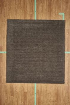 "5' 3"" x 7' 7"" Brown Handloom Simple Hand Knotted Wool Area Rug Modern"