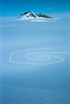 Chris Drury - Wind Vortex, 2007  Enormous environmental art installation, done by Chris in Antarctic. A stunning collaboration between nature and man.