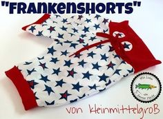 Hier kommt die Frankenshorts - kleinmittelgrosss Webseite! Sewing Kids Clothes, Sewing For Kids, Baby Sewing, Childrens Sewing Patterns, Sewing Patterns Free, Sewing Tutorials, Toddler Outfits, Boy Outfits, Little Babies