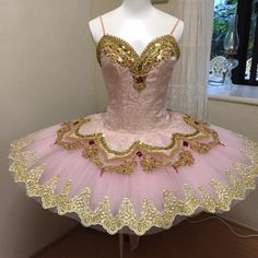 "NEW EXCLUSIVE 2015 STYLE! This professional tutu is perfect for the role of Gamzatti in ""La Bayadere"" but also for other ballets like ""Paquita"", ""Raymonda"", Sleeping Beauty, Sugar Plum Fairy, and many"