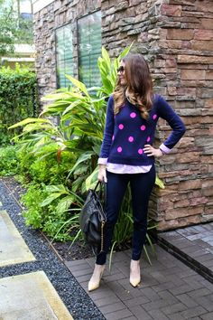 Veronika's Blushing: Dots + Gingham