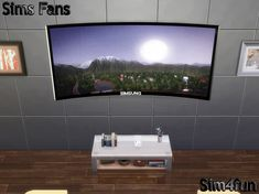"""""""Simsung HD Curved TV"""" - For your high risers"""