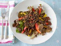 maple•spice: Cauliflower & Walnut Salad with a Lemon-Poppy Seed Dressing