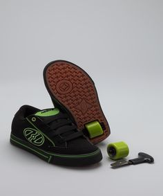 Black & Green Heely Wave Sneaker Logan wants these so bad