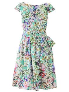 Платье с мини-рукавами - выкройка № 115 из журнала 7/2015 Burda – выкройки платьев на Burdastyle.ru