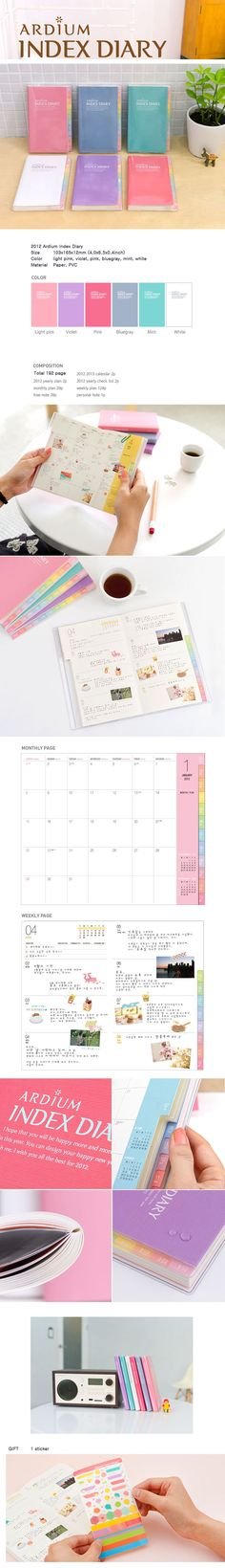 Japanese planner- the white and the aqua ones are pretty gorgeous!