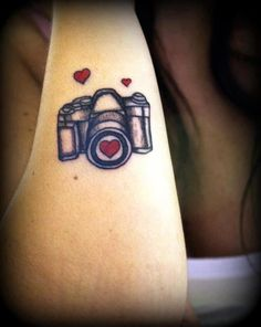 Heart Shutter Camera Tattoo