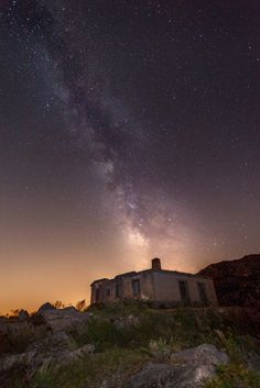 Milky way... by Márcio Ranhada....  sky landscape nature light evening mystery mountain space panoramic exploration outdoors dusk astronomy observatory scenic Astrphotography Portugal Ruin Stars Milkyway