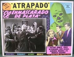 ENMASCARADO DE PLATA, Orig 1952 U.S. Lucha Libre, Masked Wrestler Lobby Card #10