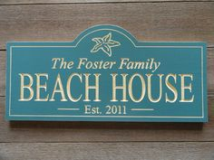 Items Similar To Beach House Carved Wood Sign On Etsy