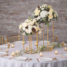 Wedding Arrangements, Wedding Table Centerpieces, Wedding Table Settings, Floral Centerpieces, Vintage Centerpiece Wedding, Spring Wedding Decorations, Wedding Dessert Tables, September Wedding Centerpieces, Wedding Reception Decorations Elegant