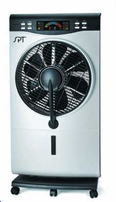 Sunpentown SF-1515W NA Misting Fan 120V Indoor Fine Mist Air Cooler with Humidifier and 3 Fan Speeds SF-1515W by Sunpentown SPT. $106.48. - Computer-controlled system with LED panel and remote  - 9 hours timer. - Ultrasonic humidifier, misting fan and normal fan in one - Humidifier operates independently or with fan. - 3 fan speeds - Modes: Natural, Normal, Sleep. - 360° rotating louver - Casters for easy mobility - ETL. Specifications: Input voltage: 120V / 6...