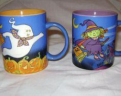 SALE AVON Halloween Mugs Set of 2