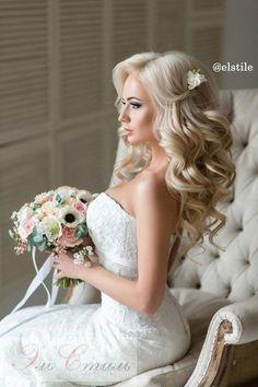 long hair for wedding down