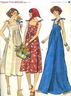 On Sale Vintage Vogue 9743 UNCUT Misses Summer by RomasMaison, $24.00