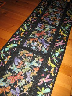 Dragonfly Quilted Table Runner Turquoise Purple by TahoeQuilts, $60.00