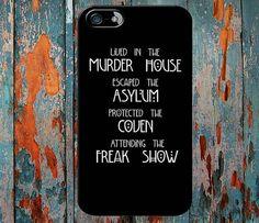 American Horror Story Four Seasons iPhone Case by Gajahmodot