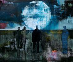 The Moon, Kenneth Blom, Oil on canvas, 2011 Grain Of Sand, Unusual Art, Art Academy, Art File, Art Portfolio, Artist Painting, Oslo, Figurative Art, Contemporary Artists