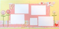 BEAUTIFUL GIRL 12 x 12 premade scrapbook pages - girl on Etsy, $15.00